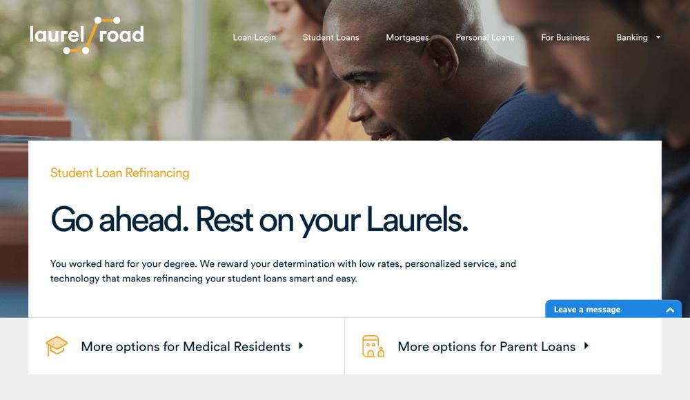 Laurel Road_main refinancing page